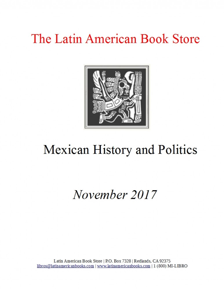 Mexican History and Politics Titles -- November 2017