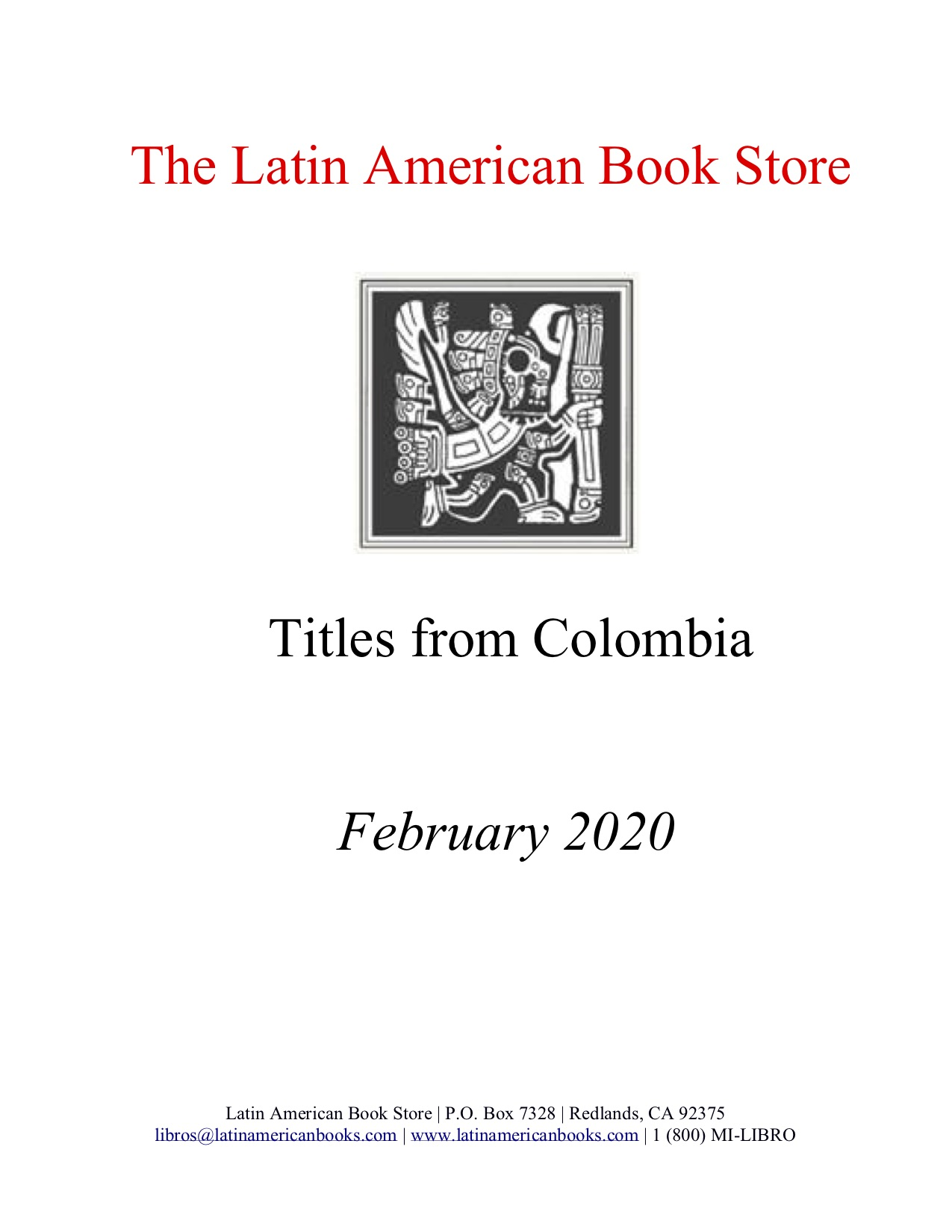 Colombian Titles -- February 2020
