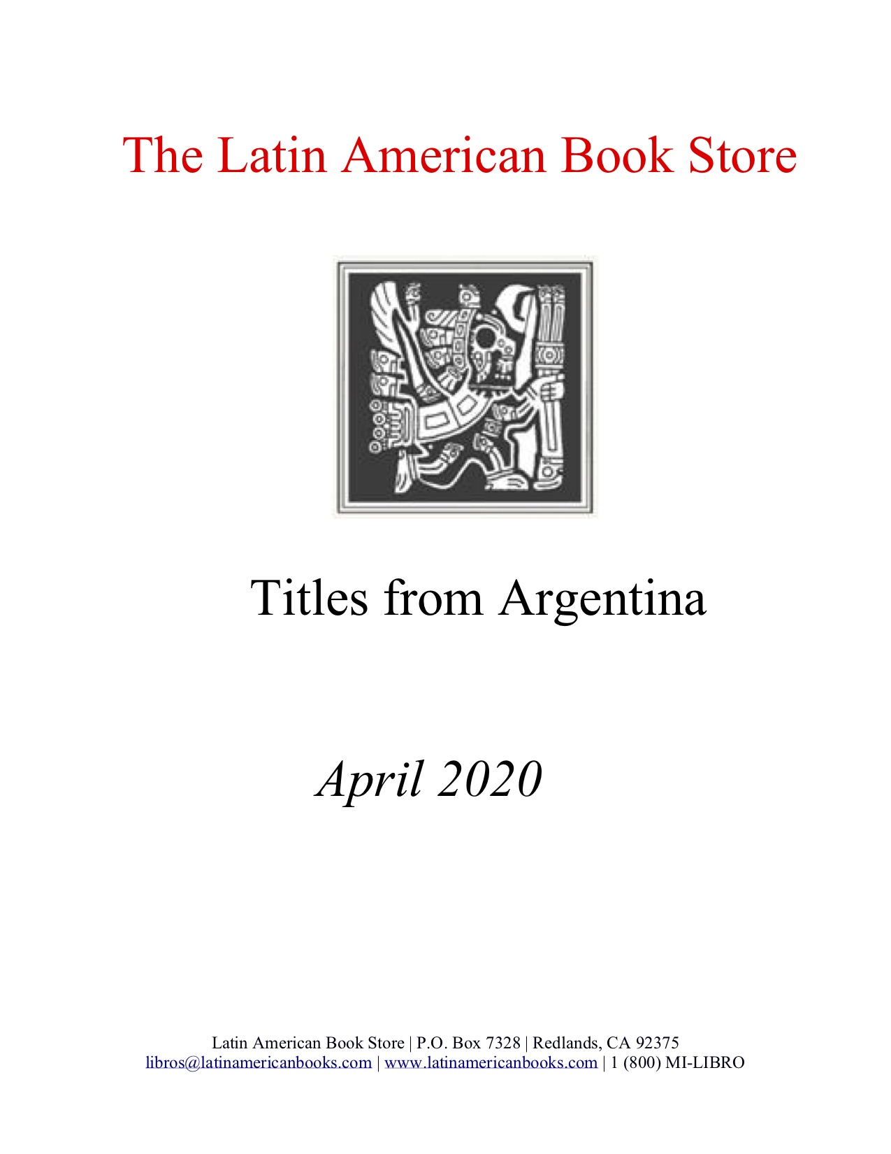 Argentine Titles -- April 2020